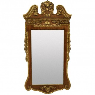 A 1930'S GEORGE II STYLE MIRROR