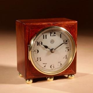 An Early Electrical Ato Art Deco Small Desk / Mantel Clock