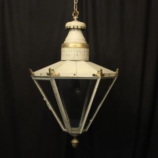 English Single Light Polychrome Lantern