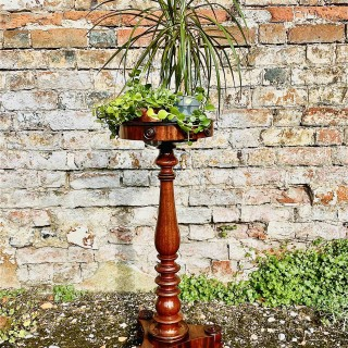 Regency period mahogany stand and  jardiniere .