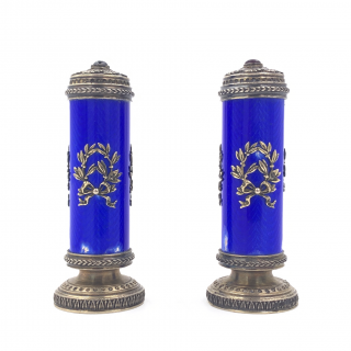 PAIR OF FABERGÉ STYLE PEPPERS