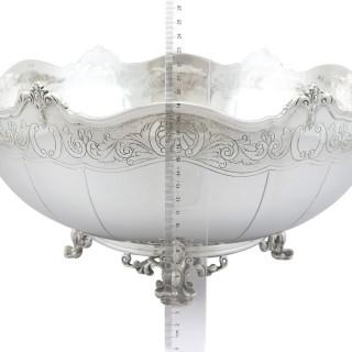 Sterling Silver Presentation Bowl - Vintage Elizabeth II (1985)