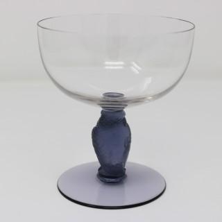 Rene Lalique Glass 'Rapace' Champagne Glass