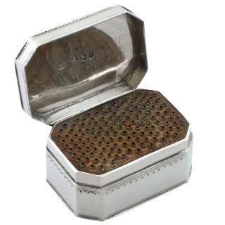 Sterling Silver Nutmeg Grater - Antique George III (1792)