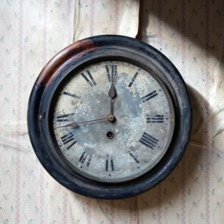 A Decorative Late Victorian Station Wall Clock c.1900