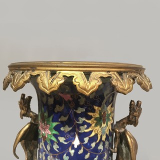 A Gilt-Bronze Mounted Chinese-Style Porcelain Vase