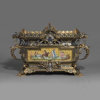 A Very Rare Renaissance Style Porcelain Mounted Jardiniere