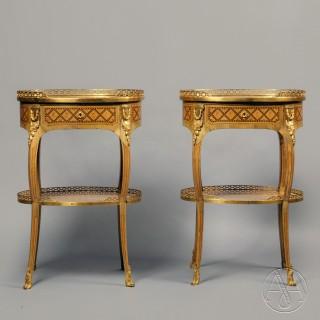 A Pair of Transitional Style  Tables À Écrire