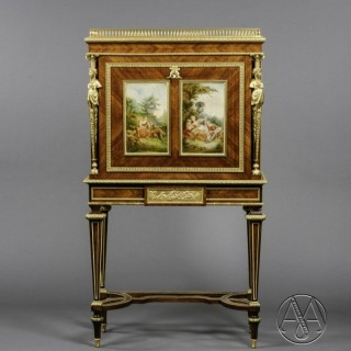A Fine Louis XVI Style Secretaire À Abattant , in the Manner of Adam Weisweiler