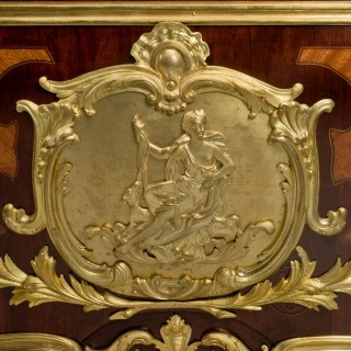 A Mahogany Grande Commode en Tombeau