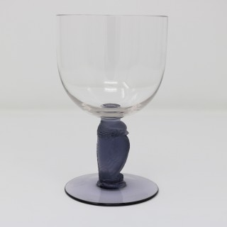 Rene Lalique Glass 'Rapace' Drinking Glass