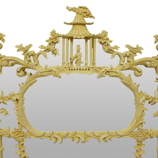 A  CHINESE CHIPPENDALE REVIVAL OVERMANTLE MIRROR