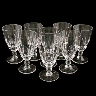 Set of Eight Red Wine Glasses