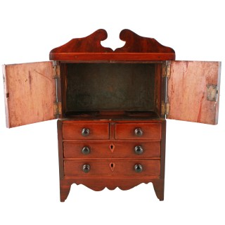 Miniature Georgian Mahogany Wardrobe
