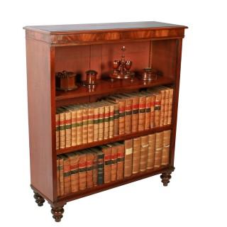 Georgian Mahogany Open Bookshelves