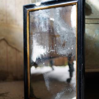 A Victorian Ebonised Mercury Plated Rectangular Wall Mirror c.1875-85