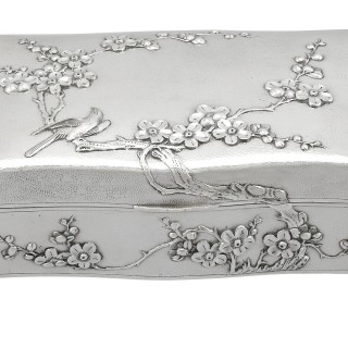 Chinese Export Silver Jewellery Box - Antique Circa 1895