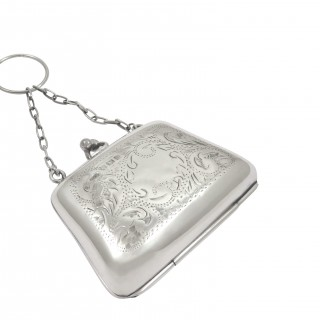 Antique Sterling Silver Purse 1918