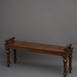 Gothic Revival Oak Hall Bench