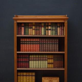 James Shoolbred Figured Walnut Open Bookcase