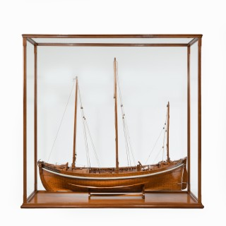 A Lugger lifeboat model by Twyman for the International Exhibition, London 1862
