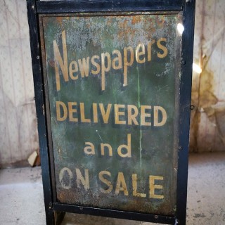 An Early 20thC Double Sided Sign-Written Advertising Sign for Newspapers c.1920-30