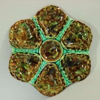 Majolica Mottled Oyster Plate