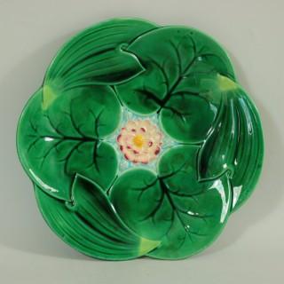 George Jones Majolica Lily Plate