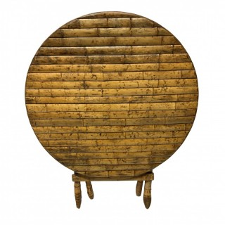 A 30'S FRENCH BAMBOO CLAD FOLDING TABLE