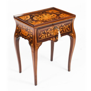 Antique Dutch Marquetry Tray Top Bedside Cabinet Side Table c.1820 19th C