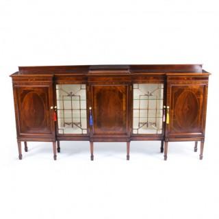 Antique Edwardian Breakfront Sideboard Display Cabinet Circa 1900