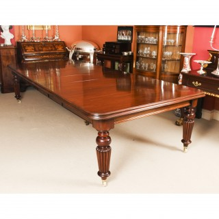 Antique 11ft Victorian Mahogany Dining Conference Table c.1850 19th C