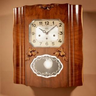 Westminster Girod Carillon Walnut, Rosewood Wall Clock French circa 1940-50
