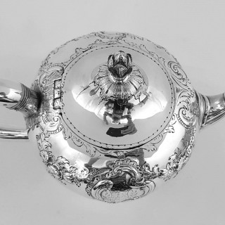 George III Scottish Silver Teapot