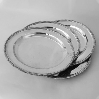 Set of 4 George III Silver Second Course Dishes
