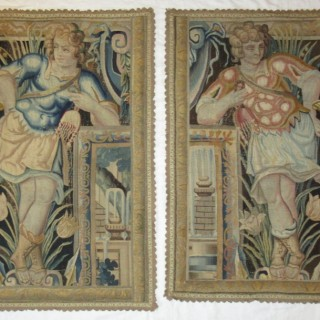 A pair of 17th century tapestry border panels