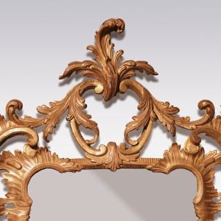 A mid 18th century Chippendale period mirror