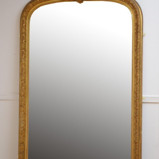 Large 19th Century Gilded Mirror H212cm