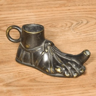 Cast Bronze Oil Lamp