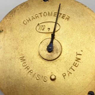 Mid Victorian Morris's Patent Chartometer with Original Card Scales and Leather Case