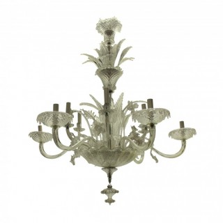 A LARGE 1930'S MURANO CHANDELIER