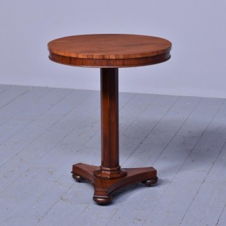 Quality George IV Rosewood Occasional Table