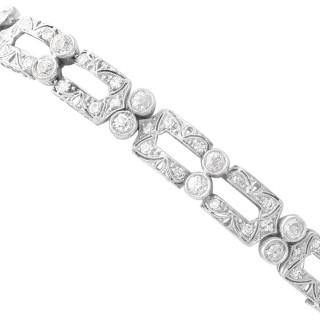 5.25ct Diamond and Platinum Bracelet - Art Deco - Antique Circa 1925