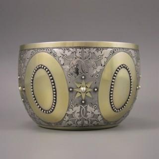 VICTORIAN Parcel-Gilt Bowl by GEORGE FOX. London 1873.
