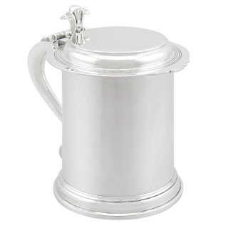 Sterling Silver Tankard by Edward Barnard & Sons Ltd - Antique George V (1935)