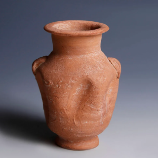 Nabataean Red Terracotta Juglet with Two Handles