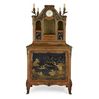 Lacquer and gilt bronze cabinet in the Japonisme style by Rosel