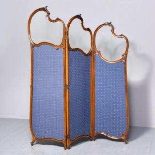 Louis XVI Style Mahogany Folding Screen