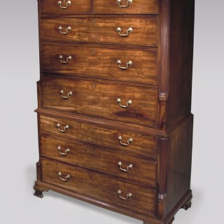 Antique Chippendale period mahogany Tallboy.
