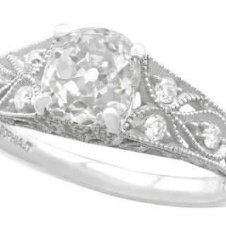 1.18 ct Diamond and Platinum Solitaire Ring - Antique and Contemporary
